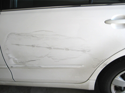Panel scrapes, dents and scratches